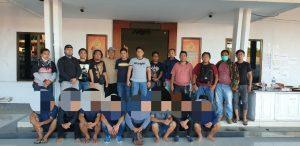 Ke 7 Orang Pembawah Sajam Berhasil Diamankan Di Mapolres Mitra