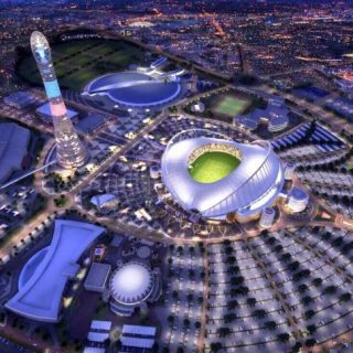 Stadion Internasional Khalifa, di Doha Qatar, untuk Piala Dunia 2022.(foto:ist)