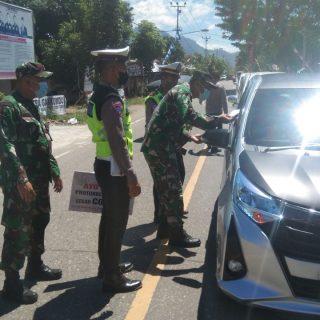 Operasi Gabungan di Jalan Trans Tutuyan.(foto:ist)