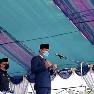 Bupati Boltim, Sam Sachrul Mamonto memperingati HUT Boltim ke 13.(foto: bung hm)